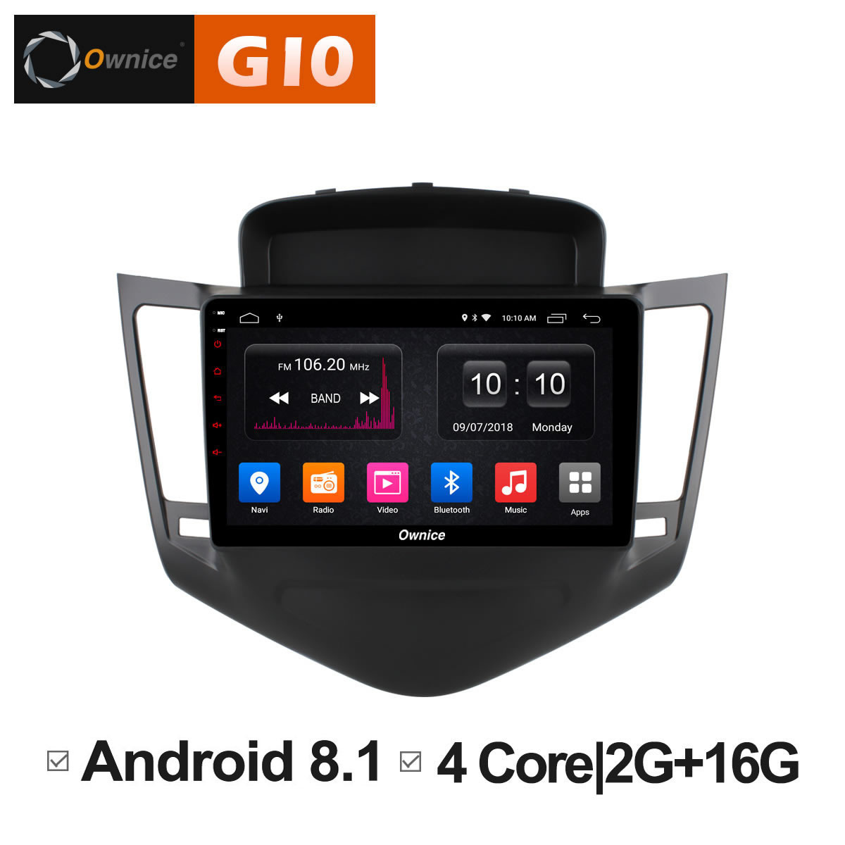 2 din IPS screen Android 8.1 car dvd gps Navigator Intelligent Entertainment Stereo for Chevrolet Cruze 2009 2010 2011 2013 2014