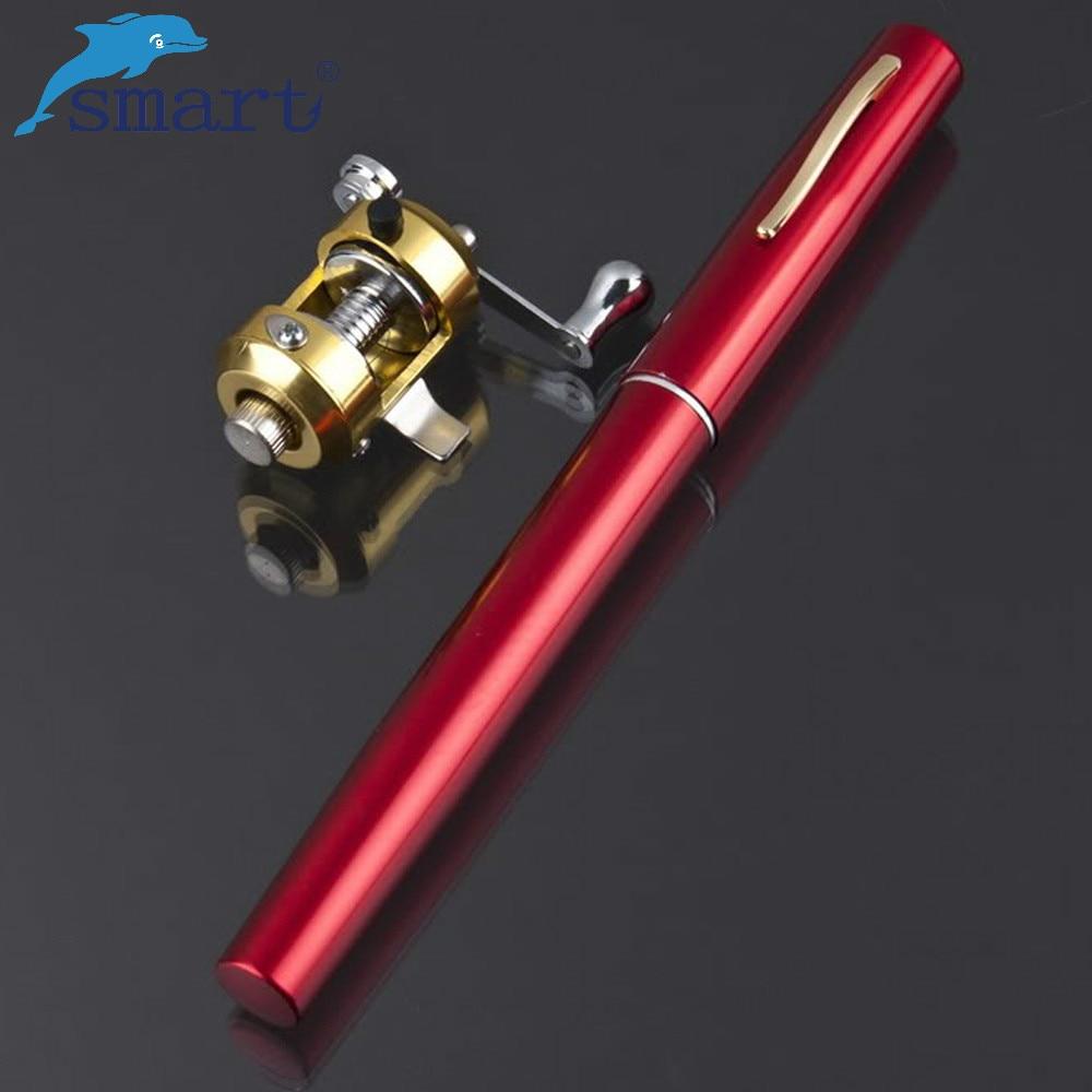 Mini Fishing Rod Pem 20cm With Reel Aluminum Alloy Ice Fishing Telescopic Rod Pole Tackles Carpe