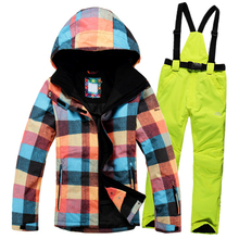 2016New Winter ski Suit Women Sets Windproof Breathable Waterproof Women Snowboard Jackets+Ski pants to keep warm set 2016new skiing sets jackets women ski suits jackets snowboard clothing jaqueta feminina inverno ski jacket waterproof breathable
