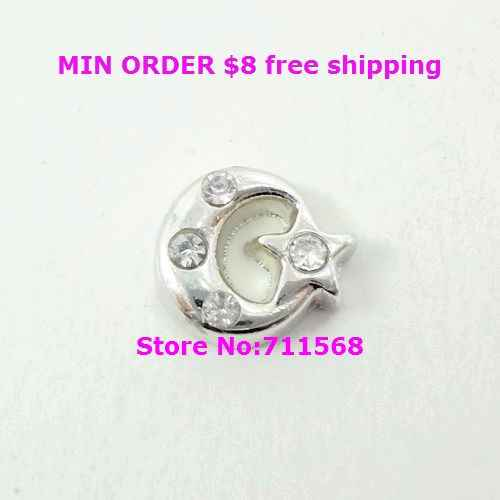 Moon and Star Floating Charms Faith Glass Locket Charm For Magnetic Floating Locket Accessories