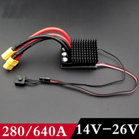 320A/640A Bidirectional Brush ESC 14v 26v 24v 6S Electrical Speed Controller for DIY RC Differential Track Climbing Cars RC Boat