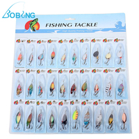 Hot Selling New 1 Pack Of 30pcs Lot Colorful Metal Fishing Lures Spinner Baits Crankbait Bass