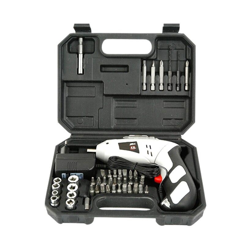 4.8 V tournevis électrique pour outil de réparation batterie au Lithium Rechargeable Parafusadeira Furadeira perceuse électrique ensemble d'outils électriques