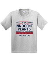 Bigaga Go Fashion Print Eat Bacon Innocent Plants Mens Funny Novelty Gift Idea Gag Gift Funny