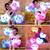 Novo colorido LED Night Flash Light sorriso estrela pelúcia namorada presente do dia dos namorados presentes boneca crianças