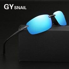 GY snail Polarized square sunglasses men fashion Aluminum magnesium frame brand sun glasses for women goggle driving oculos 2017