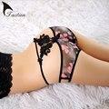 Venda quente 2016 cueca tentação de mulheres Sexy calcinha de senhora aberto de impresso Sexy Lingeries frete grátis