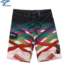 2017 лето мужская Одежда Пляжные Шорты Путешествия мужская пляжные Шорты Surf Совета Пляж Печати Quick Dry Boardshorts