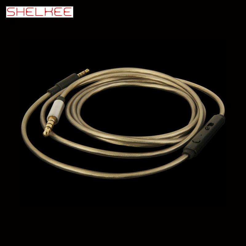 SHELKEE High quality upgrade audio cable cord Line For Bose QC25/QC35/OE2/OE2i/AE2/AE2i headphone Cable With Mic Volume Control