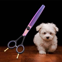 Professional 8inch Stainless Steel Pet Grooming Hair Thinning Scissors Barber Shears For Dog And Cat