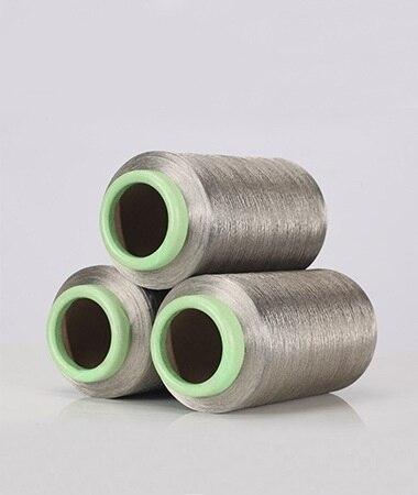DTY 40D fil à coudre en fiber d'argent filament de fiber conductrice élastique (100% fiber d'argent) 500 g/pc