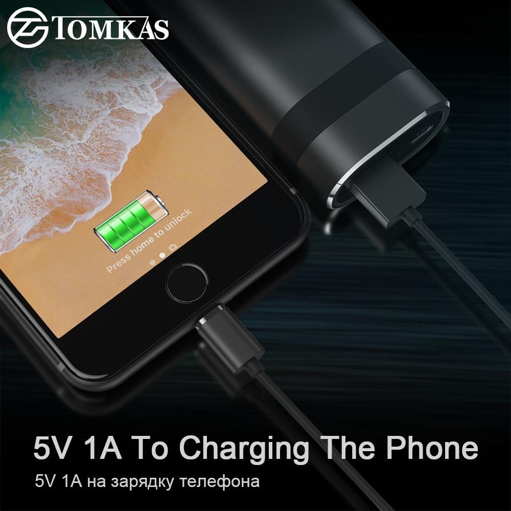TOMKAS casque sans fil Tws Bluetooth écouteurs véritable stéréo écouteurs Sport casque avec 2000 mAh batterie externe pour iPhone Xiaomi - 2