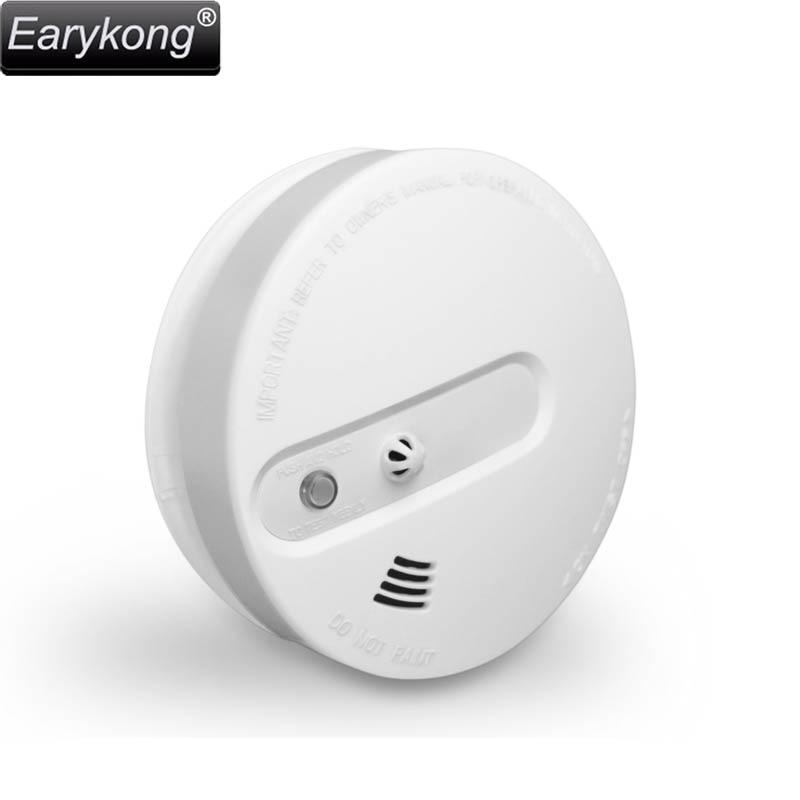 NEW Earykong Smoke Fire Detector Wireless 433MHz, Inside Photoelectronic <font><b>Temperature</b></font> Sensor, Security alarm 2 years warranty