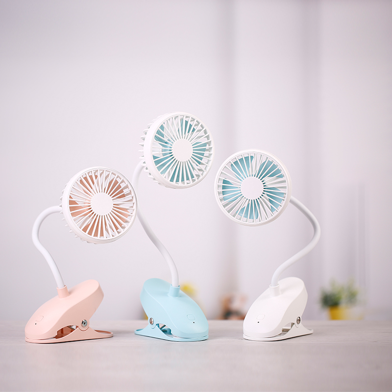 Mini Portable Clip Fan USB Rechargeable 1200mAh Metal Soft Horse 5 Blades USB Fan With Clip For Students Desk Office Babycarrier mirror fan usb air cooling fan 1200mah battery rechargeable fan portable desk mini dc fan for home office outdoor