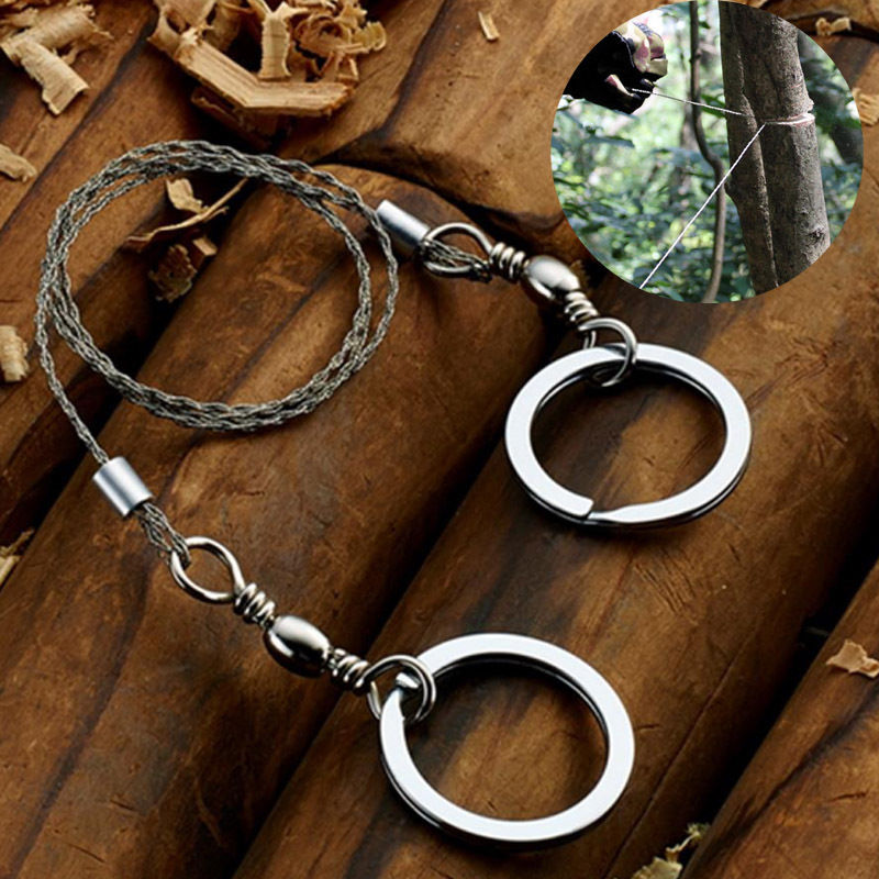 Outdoor Hiking Steel Wire Saw Survival Tool Travel Camping Scroll New Hot