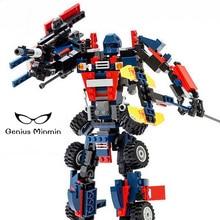 Deformed Assembled Building Blocks Robot Car Boy Educational Toys Boy Birthday Building Blocks Brick Children's Toys Gifts цена 2017