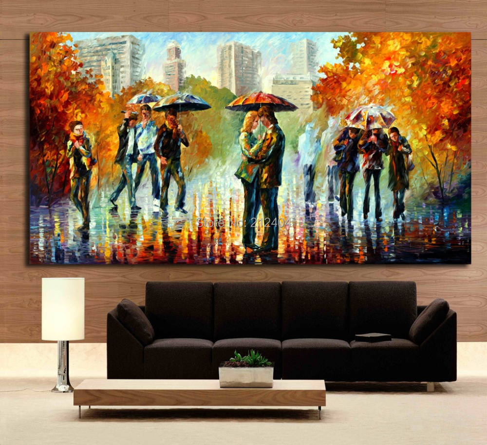 sweet couple painting printed on canvas modern abstract. Black Bedroom Furniture Sets. Home Design Ideas