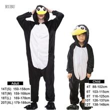 Фланелевые зимние пижамы с пингвином для девочек с мультяшными животными  для взрослых 9a34efe184b98