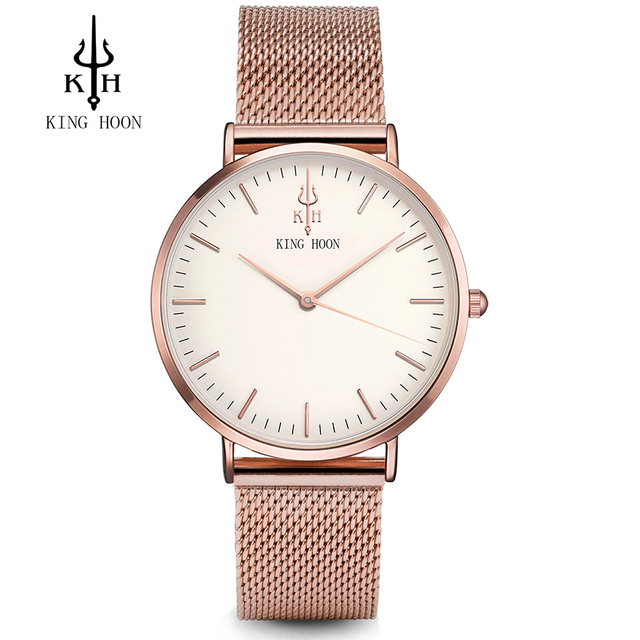 KING HOON Luxury Brand Fashion Quartz Watch Women Ladies Stainless Steel Bracele