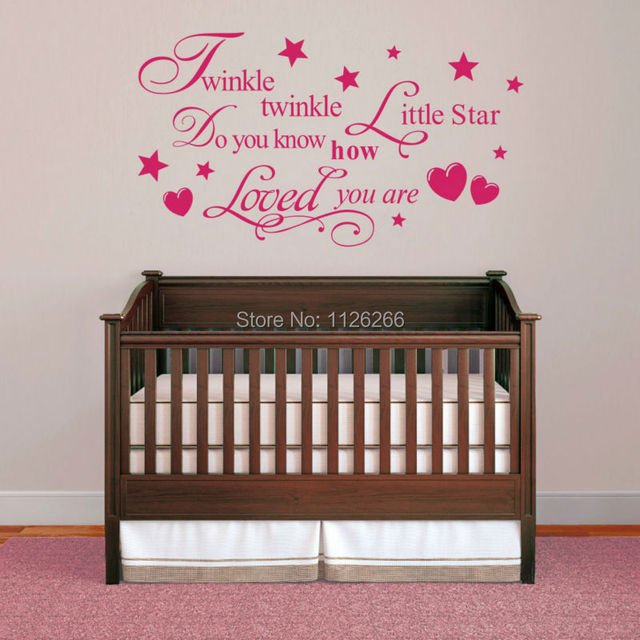 Quote Wall Decal Stickers Home Decor Twinkle Twinkle Little Star ...