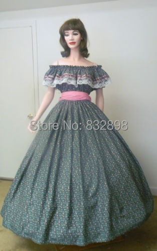 Civil War Southern Belle Pioneer Dress Costume