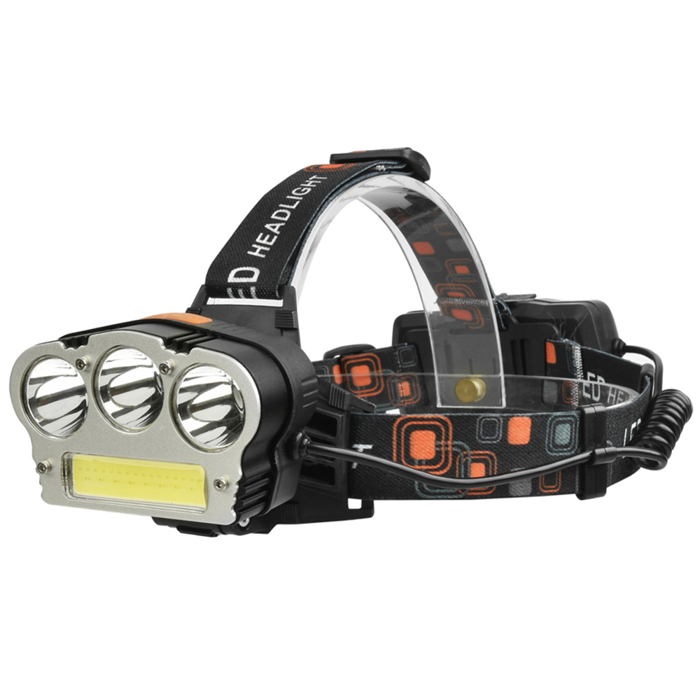 все цены на USB Power Led Headlight Headlamp 8000 lumen 3* xml t6+ COB Rechargeable Head Lamp Torch 18650 Battery Hunting Fishing Light