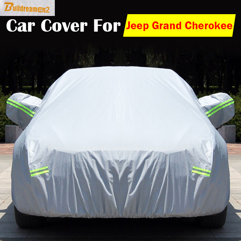 Buildreamen2 Outdoor SUV Cover Car Anti UV Sun Rain Snow Preventing Waterproof Scratch Dust Proof Cover For Jeep Grand Cherokee new power steering pump for car jeep grand cherokee suv 2 7 crd 4x4 diesel
