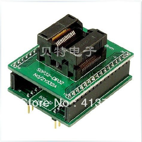 Block SOP32 ucos SmartPRO X5/X8 burn, ZY332A test socket adapter original plcc44 to dip40 block adapter block cnv plcc mpu51 test convert burn