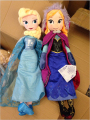 NEW 2Pcs/lot 50CM Unique Most Beautiful Design Original Snow Queen Anna Elsa Princess Plush Dolls Kid Boneca Toys Party Supplies