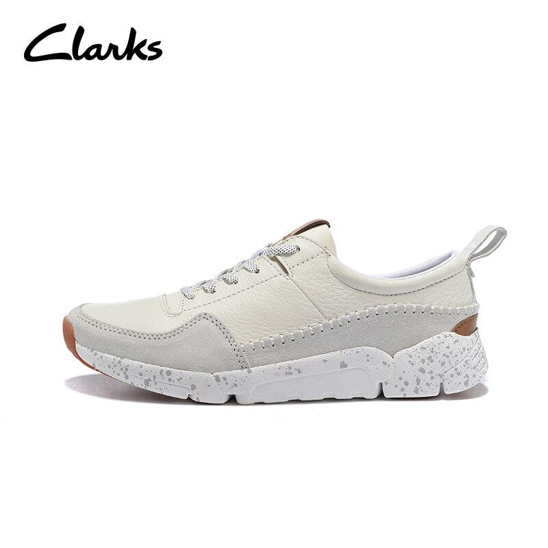 Chaussures en cuir de marque Clarks pour hommes chaussures de sport confortables chaussures de marche blanches respirantesChaussures en cuir de marque Clarks pour hommes chaussures de sport confortables chaussures de marche blanches respirantes