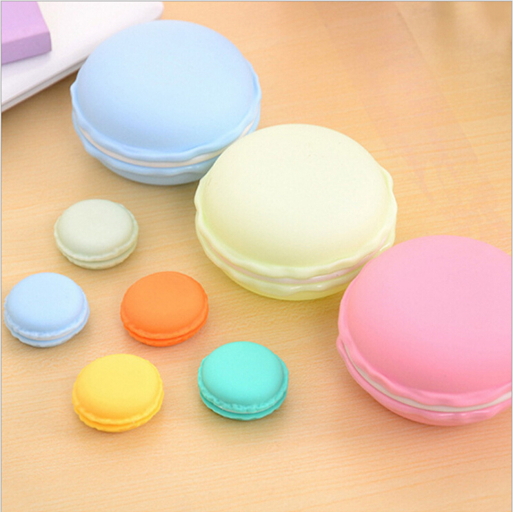 Cute Macaron Color Ring Earrings Necklace Storage Box Bracelets Rings Display Case Jewelry Packaging Gift Box 4 Colors