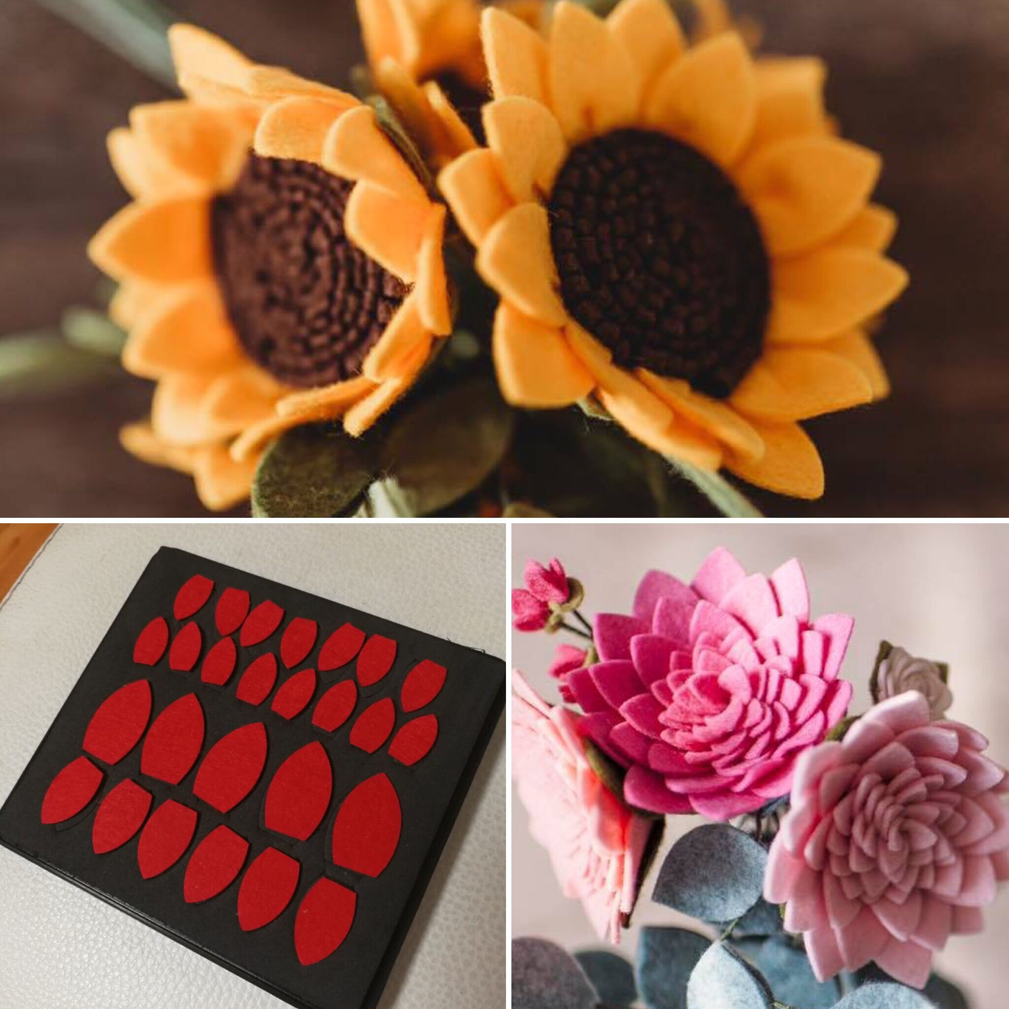 Sun flower petals cutting die for fabric and felt creations SMR FL0018 wooden steel rule die