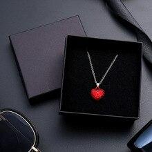 Caja de papel Kraft negro, 24 unidades por lote, caja de regalo de protección para anillo, pendientes, pulsera, 9cm x 9cm, puede personalizar su logotipo