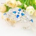 Promotion 2PCS 1Lot Luckyshine Fire Shiny Blue Created Topaz Bangles Russia Australia Bangles