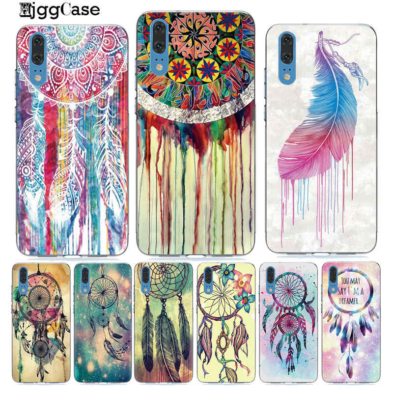 colorful Dream Catcher Drawings feather art Phone Case For Huawei P20 P30 P10 Lite For Coque Mate 20 10 Lite Pro Soft TPU Cover