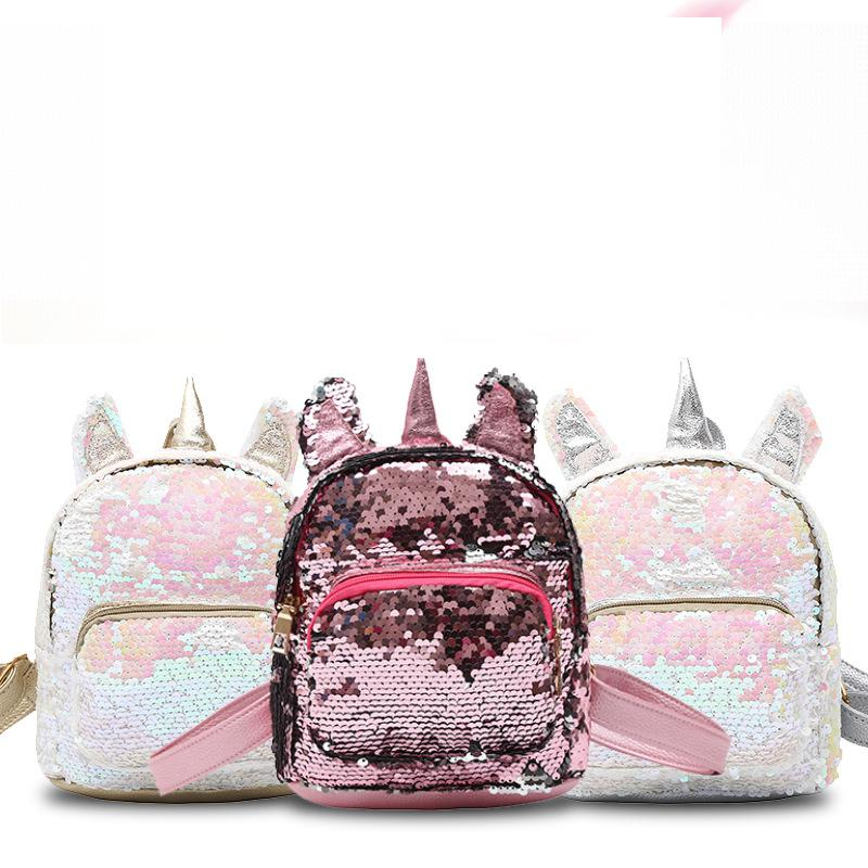 New 3D Teenage Girl Sequin School Bags Pink Backpack For Girls Cartoon Kids Bag Fashion Pu School Backpack Mochila Escolar