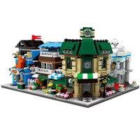 Hot Mini City Street View Moc Building Block Pets Bridal Flower Coffee Shop Bricks Toys Collection