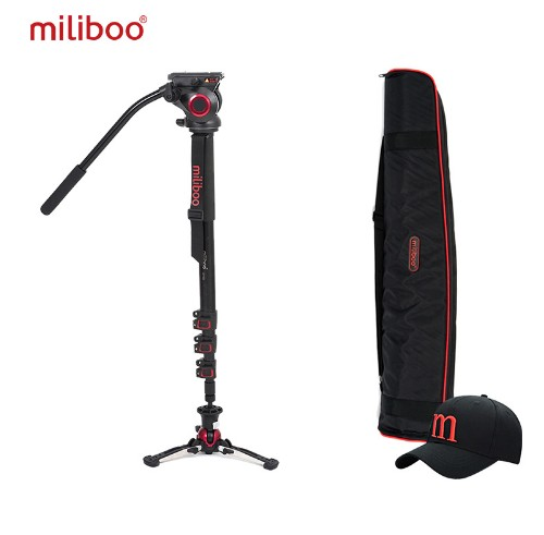 Miliboo MTT705BS Carbon aluminio Fiber Portable Fluid Head Camera Monopod For Camcorder/DSLR Stand цена