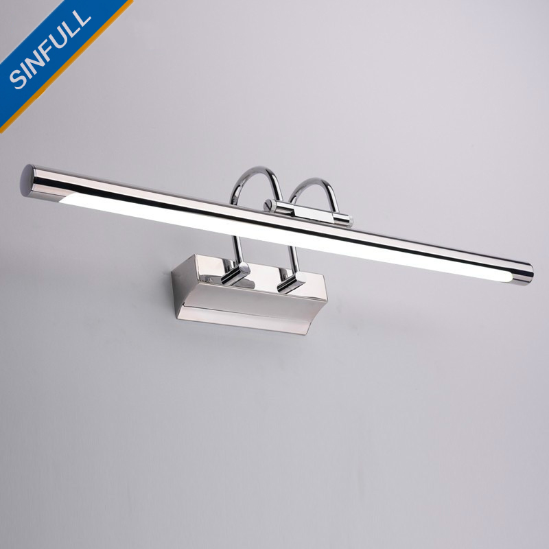 Waterproof Mirror Led Lamp Stainless Steel Bathroom Led Wall Light Washroom Cabinet Makeup Sconce Lighting Fixtures AC90-260V music hall latest 12ax7 vacuum tube pre amplifier hifi stereo valve pre amp audio processor pure handmade