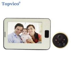 Topvico Video Guckloch Tür Glocke Kamera 4,3 Bildschirm Uhr Digtal Elektronische Türklingel Video Tür Viewer Video-auge Hause sicherheit