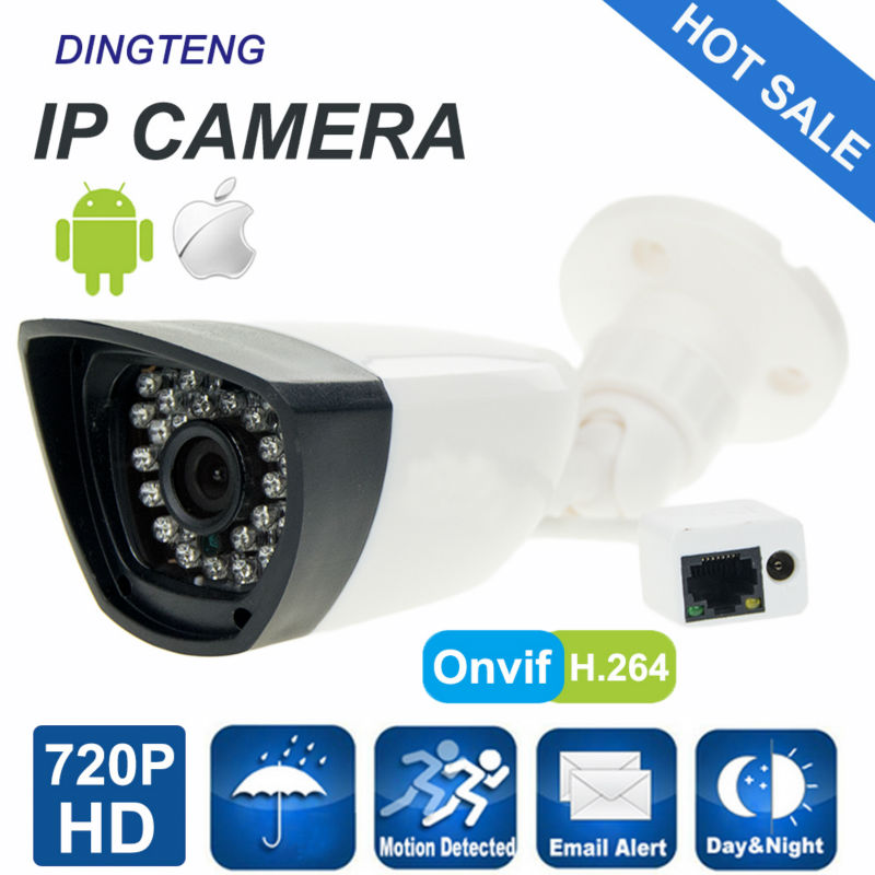 720P 1MP IP Camera Outdoor Cam HD Security CCTV Camera Bullet ONVIF Waterproof Night Vision IR Cut P2P ONVIF ABS Plastic wifi bullet ip camera waterproof 18led ir night vision outdoor security camera onvif p2p cctv cam with ir cut