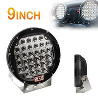 9inch Rounded 160W 32 LED Car Work Light Spot / Flood Light Vehicle Driving Lights for Offroad SUV / ATV / Truck / Boat