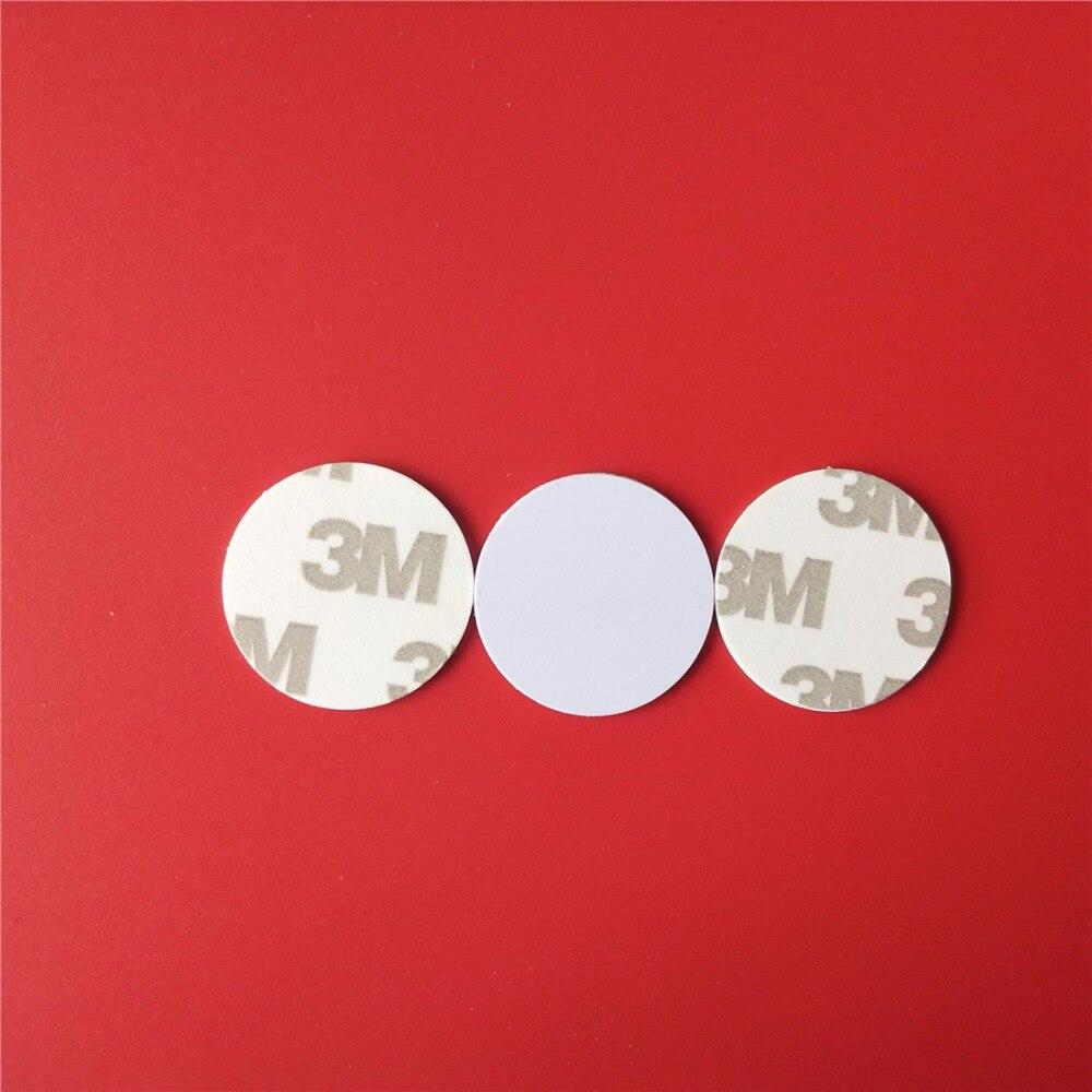 1Pcs 125Khz RFID Writable Tags Sticker Label T5577 Proximity Rewrite Smart Card 25mm