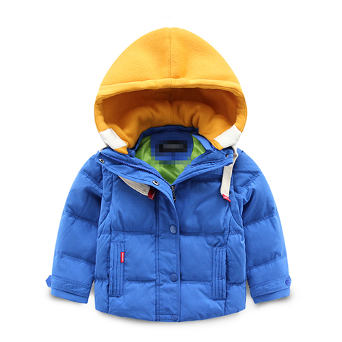 2016 new baby children winter jacket hooded peach boy wear thick warm down jacket