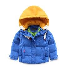 2016 новый детские дети зимняя куртка с капюшоном персик мальчик носить толстые теплые пуховик