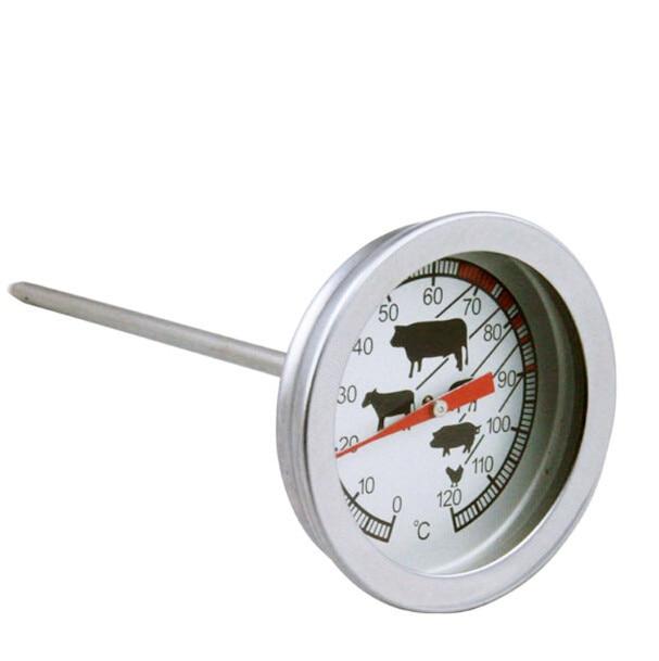 1 pz in acciaio inox accessori bbq grill carne termometro dial temperatura gauge