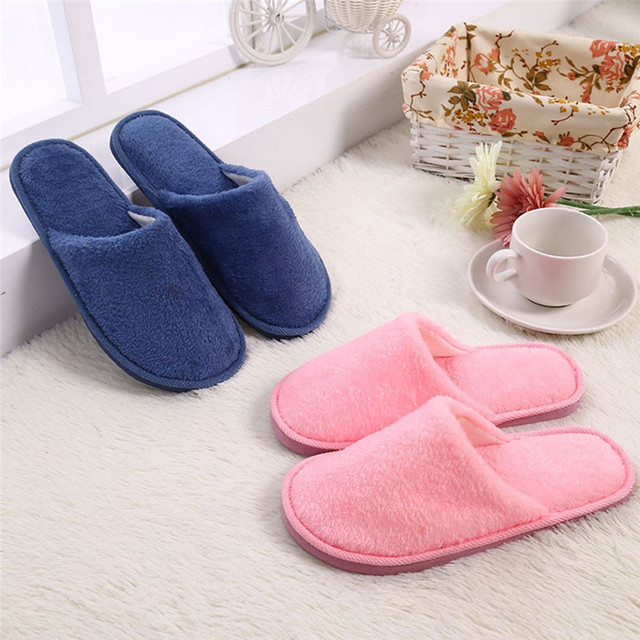 Lovely Ladies Home Floor Soft Women Indoor Slippers Outsole Cotton-Padded Shoes Home Slippers Short Plush Warm Soft Cotton