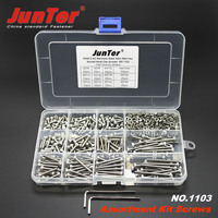 440pcs M3 (3mm) A2 Stainless Steel DIN912 Allen Bolts Hex Socket Head Cap Screws Allen Wrench With Nuts Assortment Kit NO.1103