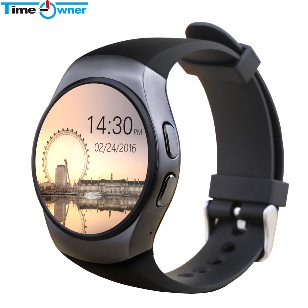 imágenes para Nueva Prueba de Agua Inteligente Smartwatch Reloj Pulsómetro Usable Dispositivos Anti-Pérdida de Apoyo TF SIM para IOS Android Smartphone