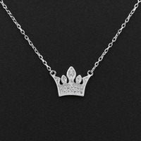 100-real-925-sterling-silver-queen-crown-pendant-necklaces-cz-crystal-charm-women-girls-gift-jewelry